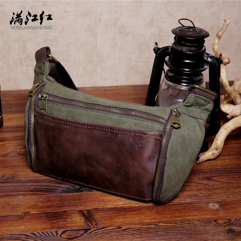 MANJIANGHONG Man packet  Convenience Small shoulder bag Travel Pocket Crazy Horsehide 1526<br><br>Aliexpress