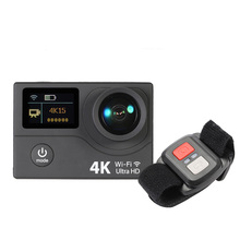 "Action Camera 4K Sport Camera with 2"" Dual Screen LCD HD 1080P 12MP Wifi  Go Waterproof Pro Car DVR FPV With Remote Watch"