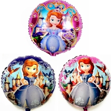 Cartoon princess Sofia castle animal Foil Balloons girl child Birthday Party Wedding decoration baby shower toy Helium balloon