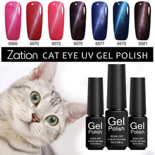 Zation 24 Color 3D Cat Eye UV Led Gel Nail Polish Soak Off Magnet Gel Lacquer Semi Permanent Lucky Color Nail Gel Varnish(China)