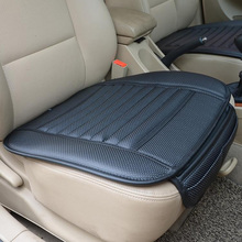 Car Seat Cover Styling Four Seasons Leather Breathable Car Interior Seat cover Pad Seat Cushion Car Front Back Seat Cover(China)
