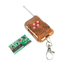 IC 2262/2272 315Mhz 4-Channel Four-Way 4 Key Wireless Remote Control Receiver Module DIY Kit M4 Non-lock Receiver Plate