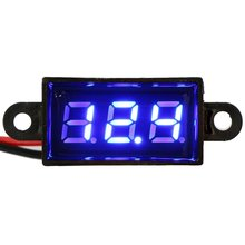 "Micro Voltmeter Blue Digital 0.28"" Volt Monitor Waterproof Dustproof Shockproof Battery Power Tester for Car Motorcycle Vehicle(China)"