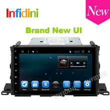 android 6.0 car dvd gps radio player wifi radio video music map car gps navigation 4G 1024*600 for TOYOTA HIGHLANDER kluger 2015