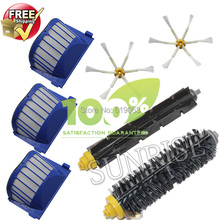 AeroVac Filter,Side Brush,Bristle and Flexible Beater Brush Combo for iRobot Roomba 600 610 620 625 630 650 660 Cleaner