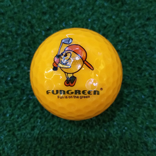 FUNGREEN 1pcs/2 Layers Practice Swing Golf Ball Colorful Golf Training Aids Balls for Kids/Adults OEM Logo Golf Accessories
