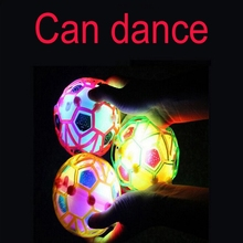 Random Color 10.5CM LED Light Jumping Ball Kids Crazy Music Football bouncing ball dance ball football Children's Funny Toy