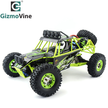 GizmoVine 12428 1/12 4WD 50KM/H Crawler RC Car With LED Light RTR 2.4G High Speed Monster Truck Radio Control RC Buggy Off-Road