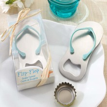 Beach Flip Flops Bottle Opener Corkscrew Bridal Shower Wedding Favors wedding favors and gift giveaways for guest(China)