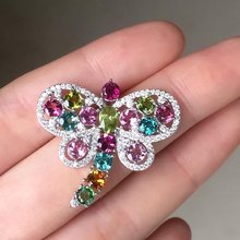 2017 Collares Qi Xuan_Tourmaline Stone Dragonfly Pendant Necklaces_Real Necklaces_Quality Guaranteed_Manufacturer Directly Sale(China)