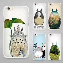 My Neighbor Totoro Studio Ghibli Hard White Cell Phone Case Cover for Apple iPhone 4 4s 5 5C SE 5s 6 6s 7 8 Plus X(China)