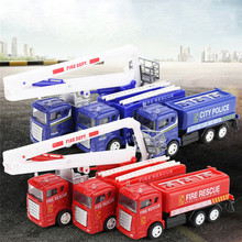 1:60 Alloy Engineering Toy Mining Car Truck Children's Birthday Gift Fire Rescue Dropshipping Free Shipping M25(China)