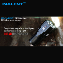 New IMALENT DDT40 OLED Intelligence Touch CREE XPL HI LED Searchlight 4500 Lumens Flashlight with 4 2600mAh 18650 Batteries