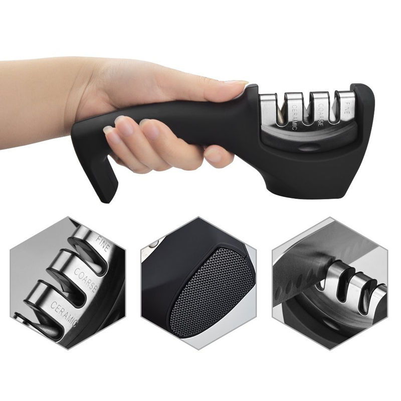 New Design Diamond Stainless Steel 3 Stages Professional Knife Sharpener for Stainless Steel Knife and Ceramic Knife 2