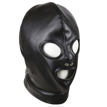 Buy Leather Bondage Hood Bdsm Mask Adult Games Cosplay Slave Restraints Head Harness Sex Toys Couples Fetish Wear Products