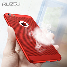 RUZSJ Breathing Phone Case For iPhone 5s 6s 7 Plus SE Shockproof PC Back Covers Shell Protective Housing For iPhone 5 s 6 s Plus