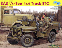 "1/35 scale model Dragon 6725 British special air crew 1/4 tons of Willis light assault combat off-road vehicles ""ETO"""
