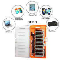 60 In 1 Precision Driver Set P2 P5 Pentalobe Phillips Torx Screwdriver Set for iPhone CellPhone Laptop PC Toys Repair