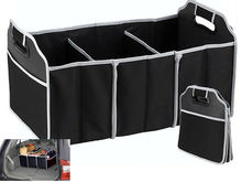 2-in-1 Car Boot Organiser Shopping Tidy Heavy Duty Collapsible Foldable Storage H5005(China)