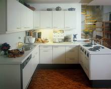 modern kitchen cabinets with high gloss white lacquer painting