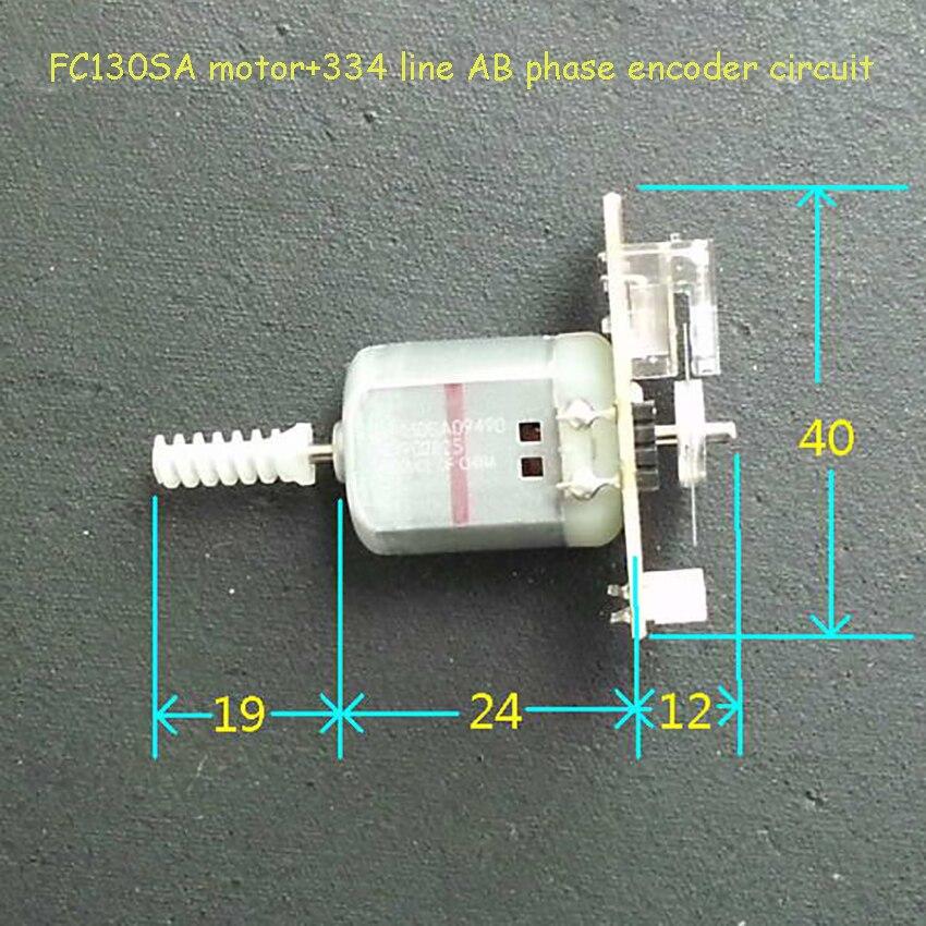 2PCS DC 3V 5V 6V Long Shaft Mini 130 Motor Carbon Brush Motor Code Speed Encoder