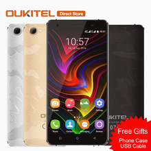 "OUKITEL C5 PRO Mobile Phone Android 6.0 MTK6737 Quad-core Cell Phone 2GB+16GB 5.0MP+2MP Dual SIM 5.0"" inch 4G LTE Smartphone"
