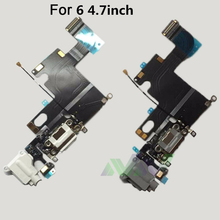 USB Charging Charger Connector Dock Port Flex Cable Rear Tail Plug Cable For iPhone 6 6plus Replacement Part Repair Parts