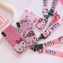 Buy iPhone X Kitty Case, Cartoon bling Hello Kitty TPU Cover iPhone 6 6S 6SPlus 7 7plus 8 8Plus back case 2 strap Co.,Ltd) for $4.74 in AliExpress store