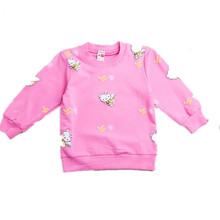 2017 Autumn spring Brand New Children pullover girls Sweaters Kids Cartoon kitty Cat clothing Baby girl Hello Kitty sweater