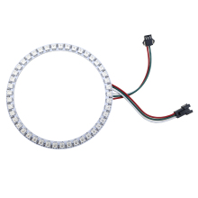DC 5V WS2812B Module Strip 16 35 45 Bits WS2812 5050 RGB LED Ring Lamp Light with Integrated Drivers Board White/Black PCB