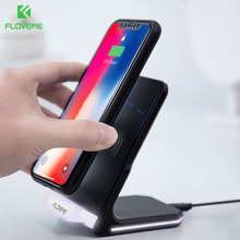 FLOVEME Wireless Charger For iPhone 8 X / 8 Plus Wireless Charging QI Wireless Charger Pad Fast For Samsung Galaxy S8 / S7 Edge(China)