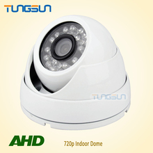 Special offer CCTV 720P AHD Camera Security Home IR Cut Mini Indoor White Dome 24led Infrared Night Vision 1MP Surveillance(China)