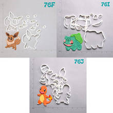 Cartoon TV Pokemon Design Cookie Cutter Set Custom Made 3D Printed Fondant Cupcake Cutters Decorating Fondant Baking Cake Mold