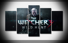6742 the witcher 3 wild hunt game poster Framed Gallery wrap art print home wall decor wall picture Already to hang digital(China)