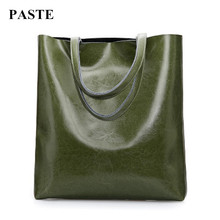 HOT Sale!!! 2017 New vintage oil waxing leather women bag handbags European simple style one shoulder bags Large capacity