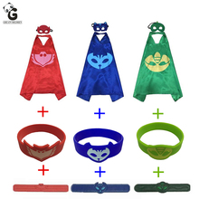 Buy Pj Catboy masks Owlette Gekko Boys Cloak Masks Halloween Christmas Costumes Boy Girl Kids Superhero Cosplay Children Clothes for $7.27 in AliExpress store