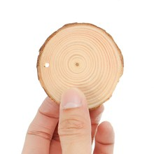 Round Natural Wood Chips Slices 50Pcs/Set DIY Hand Paint Craft Wedding Christmas Decoration Centerpieces Party Events Supplies(China)