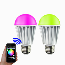 Free shipping bluetooth led bulb lamp E27 AC100-240V 7.5W colorful changeable + warm white smart phone Wireless home products