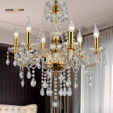 Modern crystal chandelier K9 crystal 110~240V lustres de cristal chandelier for living room Kitchen light Lamp lustre para sala(China)