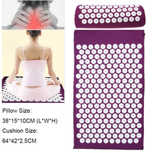 Acupressure Massage Pillow Cushion Spike Mat Head Massager Stress Pain Relief Yoga Pad for Back Foot Treatment Body Relaxation(China)