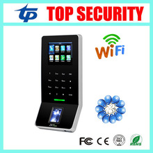 Free shipping ZK F22 WIFI TCP/IP fingerprint access control color screen linux system time attendance with RFID card reader