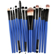 15 pcs/sets Professional Beauty Eye Shadow Foundation Eyebrow Lip Brush Makeup Brushes Set Tool