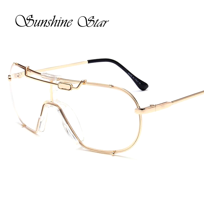 Sunshine Star Newest Brand Oversized Clear Len glasses Women Men Outdoor Goggle Steampunk Style Glasses Mirror Eyeglasses Oculos<br><br>Aliexpress