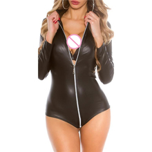 Buy 2018 Hot Sexy Lingerie Latex Pvc Jumpsuit Zentai traje negro de Catsuit Pole Dance ropa playsuit Nightclub Bodysuit