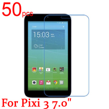 "50pcs glossy/Matte/Nano anti-Explosion LCD Screen Protector Film Cover For Alcatel One Touch Pixi 3 7.0"" 3G 9002X Film + cloth(China)"