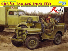 RealTS Dragon 1/35 6725 SAS 1/4 Ton 4x4 Truck ETO Jeep Plastic Model Kit