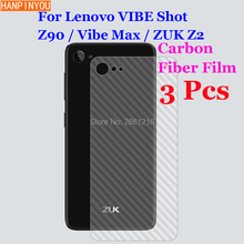 3 Pcs/Lot For Lenovo VIBE Shot Z90 Max / ZUK Z2 3D Non-slip Clear Carbon Fiber Back Film Screen Protector Protective Sticker