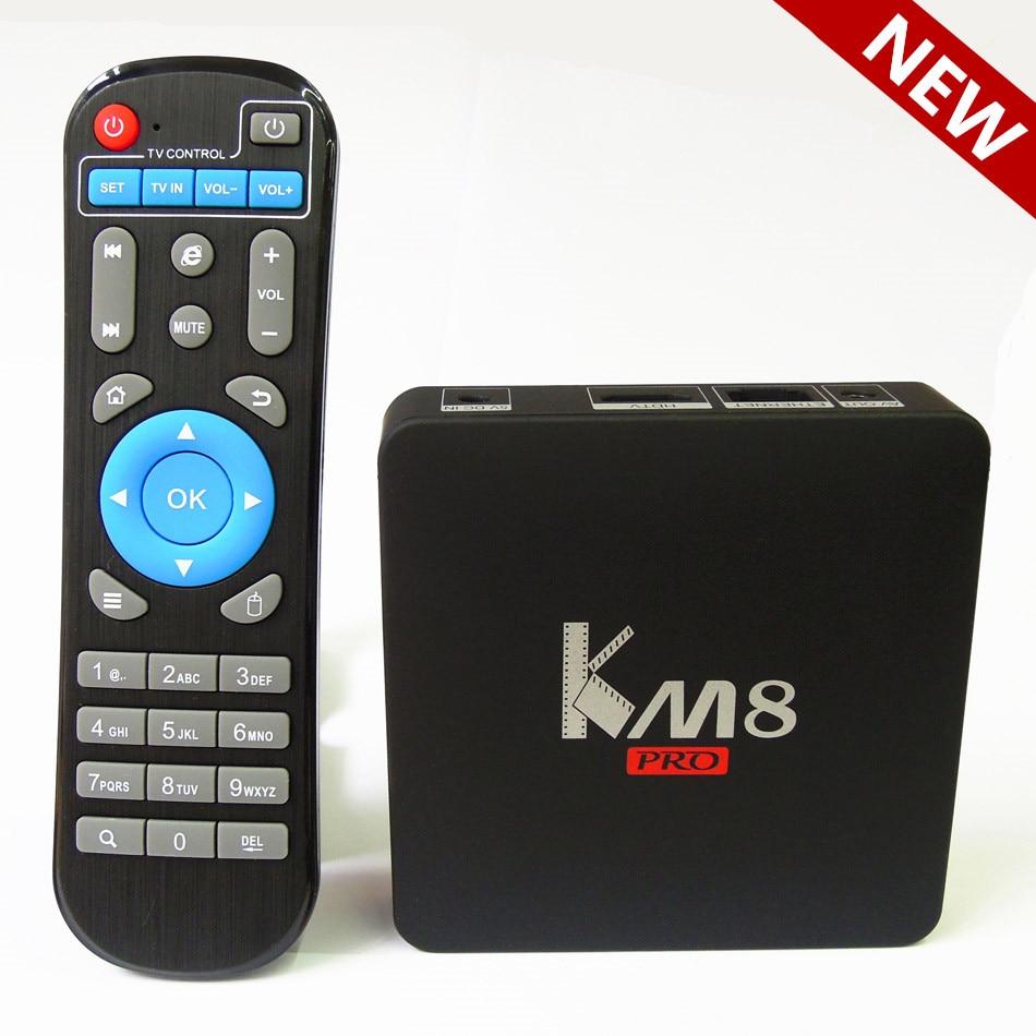 2016 Android 6.0 TV BOX KM8 PRO Amlogic S912 Octa Core 2GB/16GB Kodi 17.0 Bluetooth 2.4G/5GHz Dual WIFI Better than X96 A95X M8S<br><br>Aliexpress