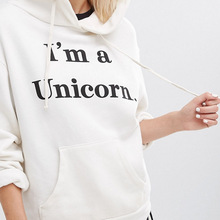 Casual 3D Unicorn Hoodies Fashion Women Hooded Sweatshirts Letters Pullover White Lady Spring Autumn Tops - Viva'LaVida Store store