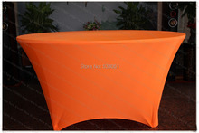 Neon Orange Spandex Table Cover/Lycra Tablecloth/Chair Sash/Chair Cover/Napkins For Wedding Party Hotel Banquet Home Decorations